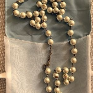 Christian Dior Necklace and Tribe Pearl earrings